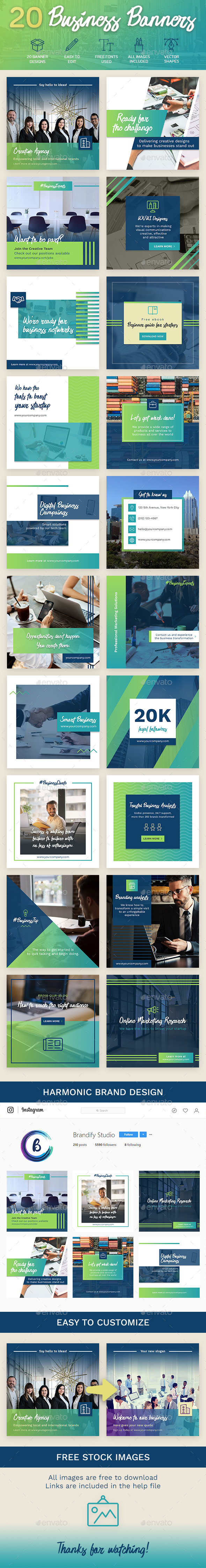 Corporate Banners - Social Media Web Elements