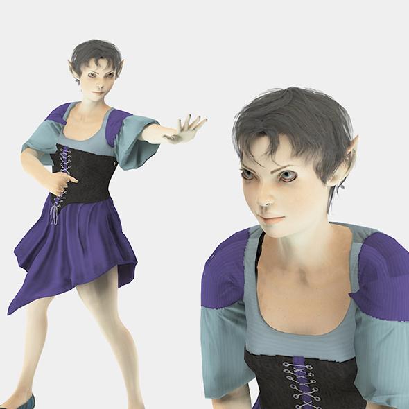 Elf Woman1 - 3DOcean Item for Sale