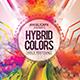 Hybrid Colors Holi Fest Flyer Template