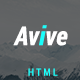 Avive One Page Personal Portfolio HTML5 Template - ThemeForest Item for Sale
