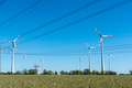 Wind turbines and power supply lines  - PhotoDune Item for Sale