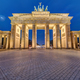 The famous illuminated Brandenburg Gate in Berlin - PhotoDune Item for Sale