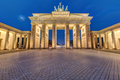The famous illuminated Brandenburg Gate in Berlin - PhotoDune Item for Sale