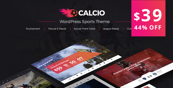 Image of Calcio - Football & Soccer Management WordPress Theme