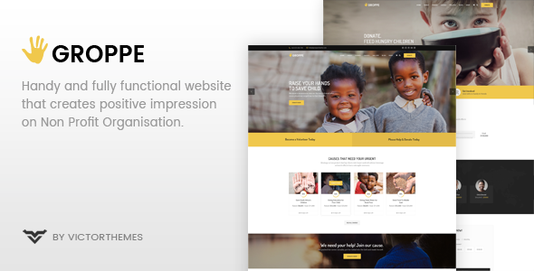 Groppe - Nonprofit WordPress Theme - Charity Nonprofit