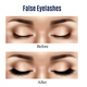 Eyes False Lashes Realistic Illustration