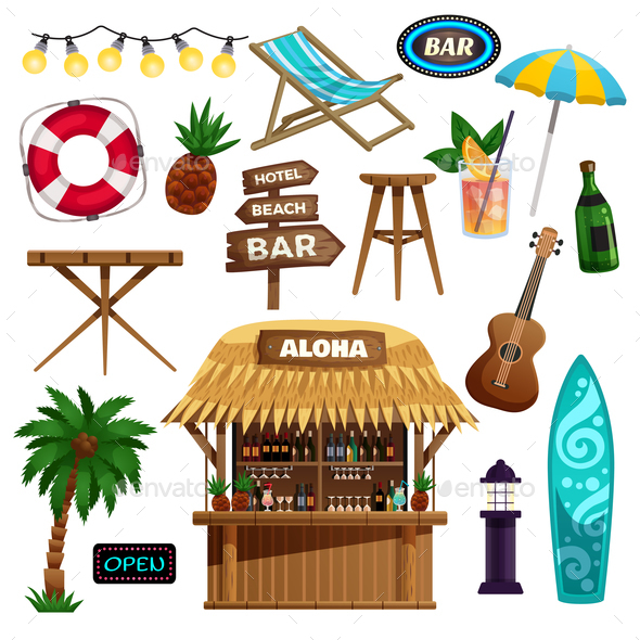 Summer Vacation Icons Set - Miscellaneous Vectors