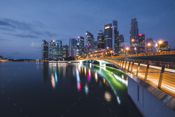 Singapore Marina Bay - Stock Photo - Images