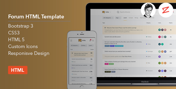 Forum HTML Template - Miscellaneous Site Templates