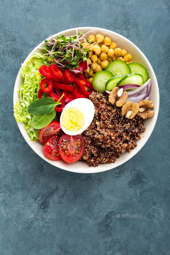 Buddha bowl dish - Stock Photo - Images