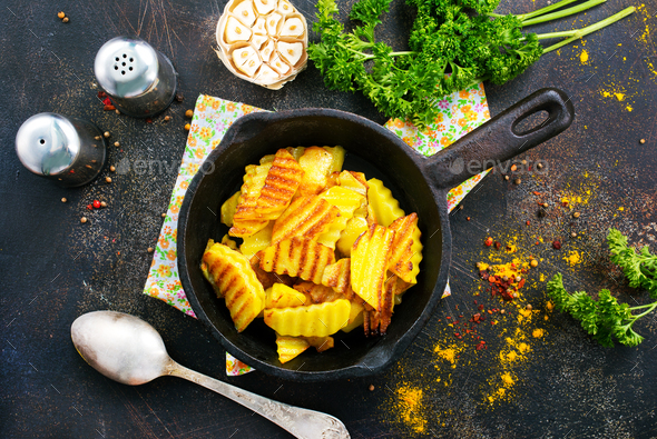 fried potato - Stock Photo - Images