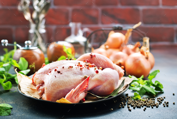 raw chicken - Stock Photo - Images
