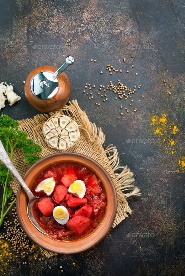 beet soup - Stock Photo - Images