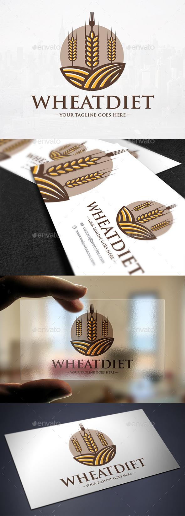 Wheat Diet Logo Template - Nature Logo Templates