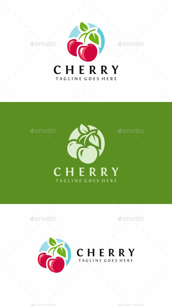 Cherry Fruit - Food Logo Templates