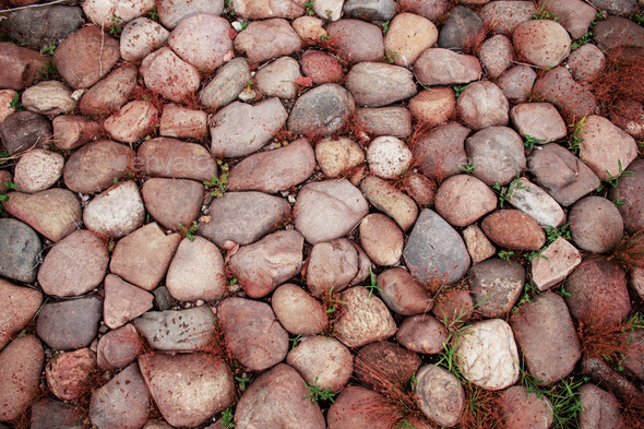 Stone with colorful background - Stock Photo - Images