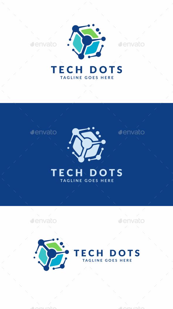 Tech Dots - Abstract Logo Templates