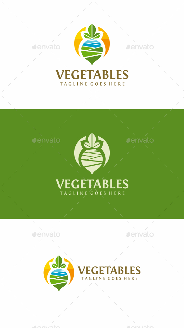 Vegetables Farm - Food Logo Templates