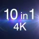 10 Sparkle Light 4K Pack - VideoHive Item for Sale