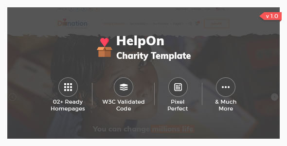 Image of HelpOn - Charity HTML Template