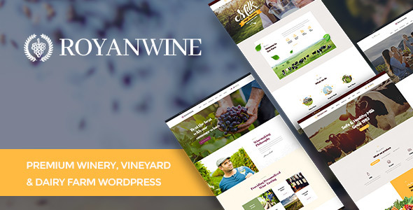 Image of Vineyard, Winery, Wine Shop and Dairy Farm WordPress Theme