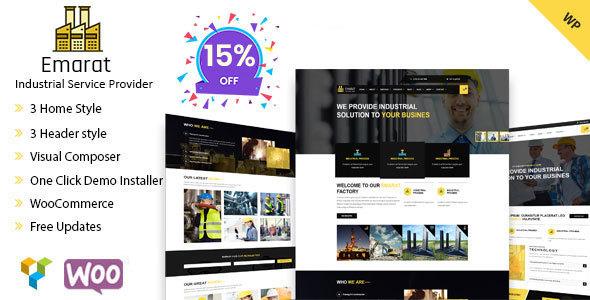 Emarat-Industry & Business WordPress Theme