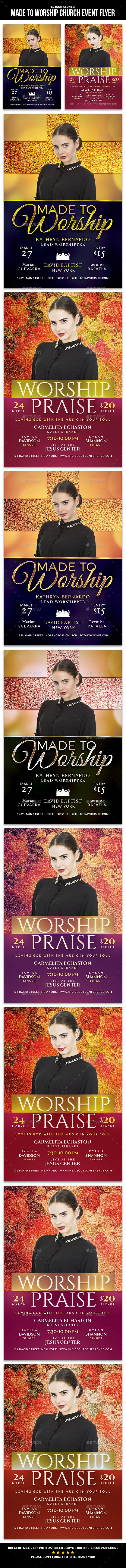 Made to Worship Church Event Flyer - Church Flyers