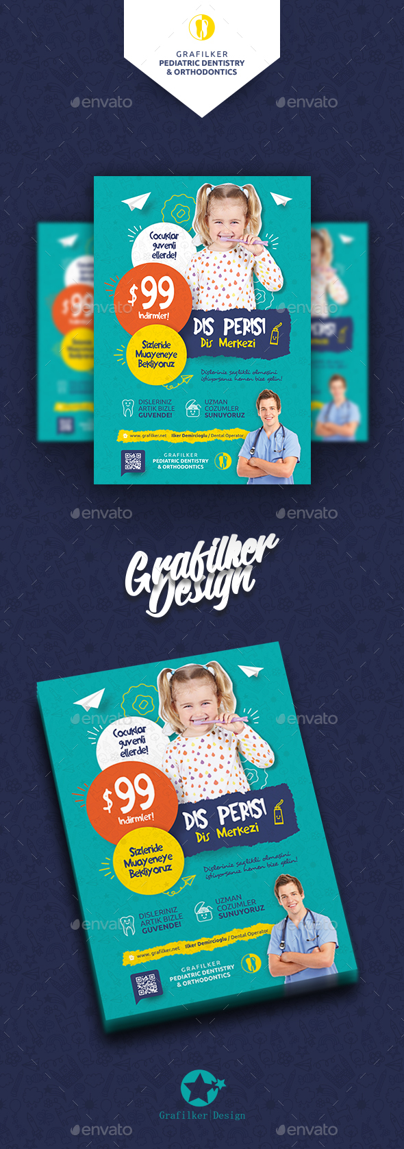 Kids Dental Flyer Templates - Corporate Flyers