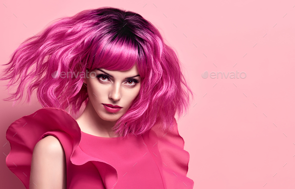 Pink Hair - Stock Photo - Images