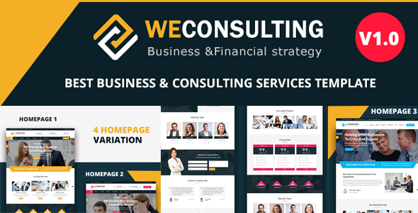 Image of WECONSULTING - Responsive BootStrap Drupal 8.5 Theme