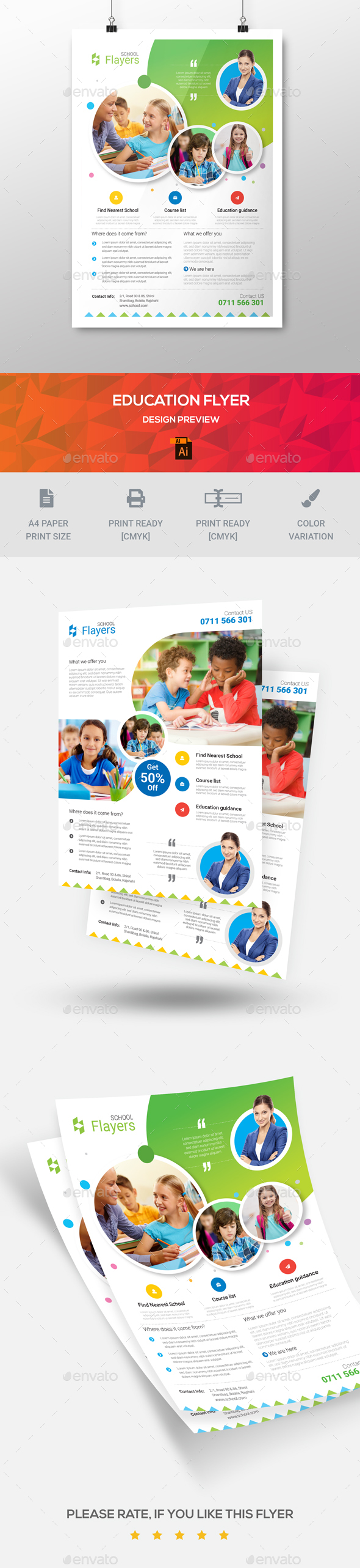 Education Flyer Templates - Flyers Print Templates
