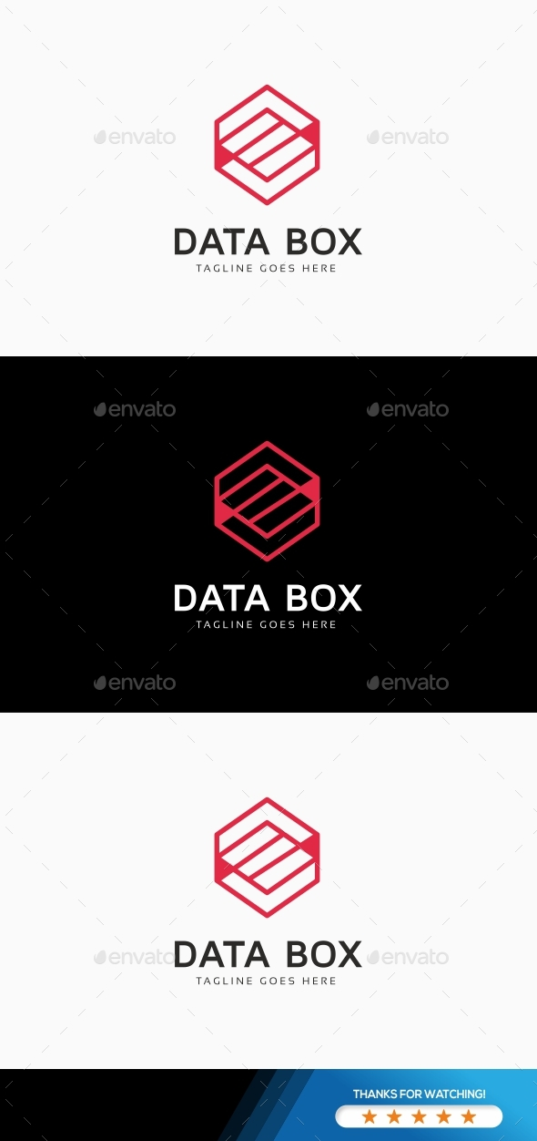 Hexagon Data Logo - Symbols Logo Templates
