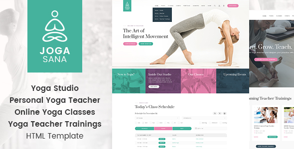 Jogasana - Yoga Oriented Website Template - Health & Beauty Retail
