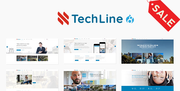 Image of TechLine - Web services, businesses and startups Drupal 8.4 Theme