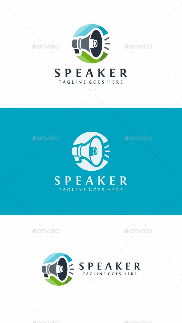 Speaker - Objects Logo Templates