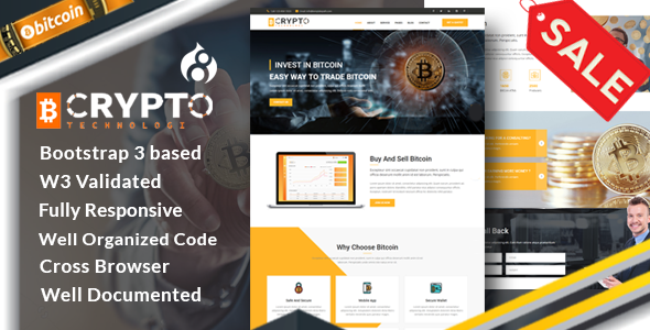 Crypto - Bitcoin Crypto Currency Drupal 8 Theme