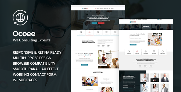 Ocoee - Consulting & Business WordPress Theme