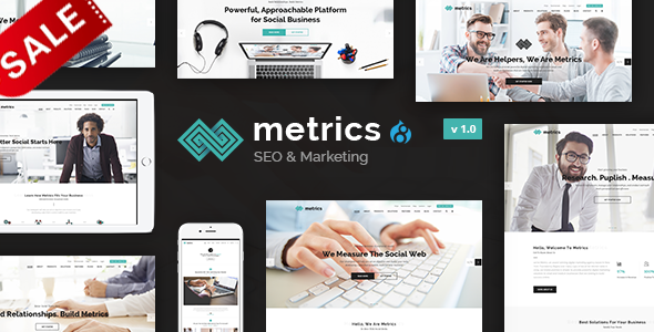Image of Metrics Business - SEO, Digital Marketing, Social Media Drupal 8.5.3 Theme