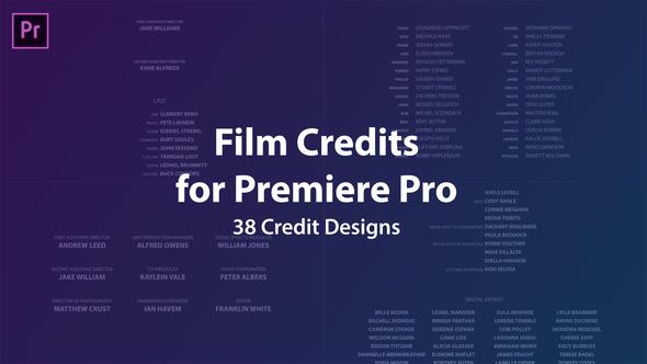 Cinema Film Credits Pack - 14
