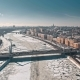 Krymsky Bridge Over River - VideoHive Item for Sale
