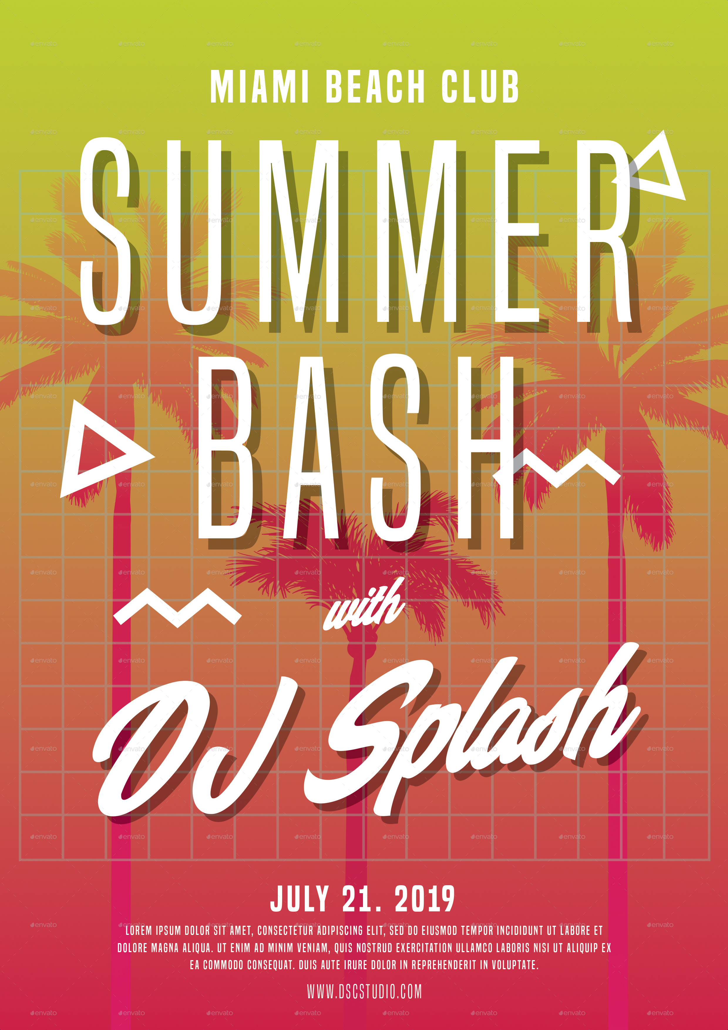 Summer Bash Party Flyer By Dsc Studio Graphicriver