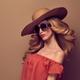 Sensual Beautiful Woman, Vintage Trendy Sunglasses - PhotoDune Item for Sale