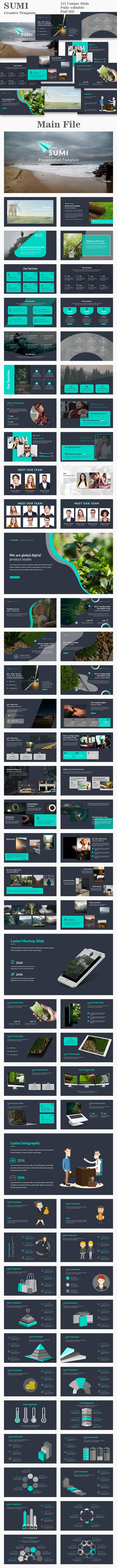 Sumi Creative PowerPoint Template - Creative PowerPoint Templates
