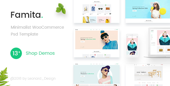 Famita | Minimalist WooCommerce Psd Template - Retail PSD Templates