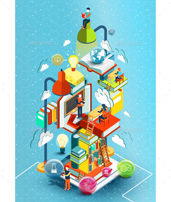 A Tower of Books Education Concept - Concepts Business