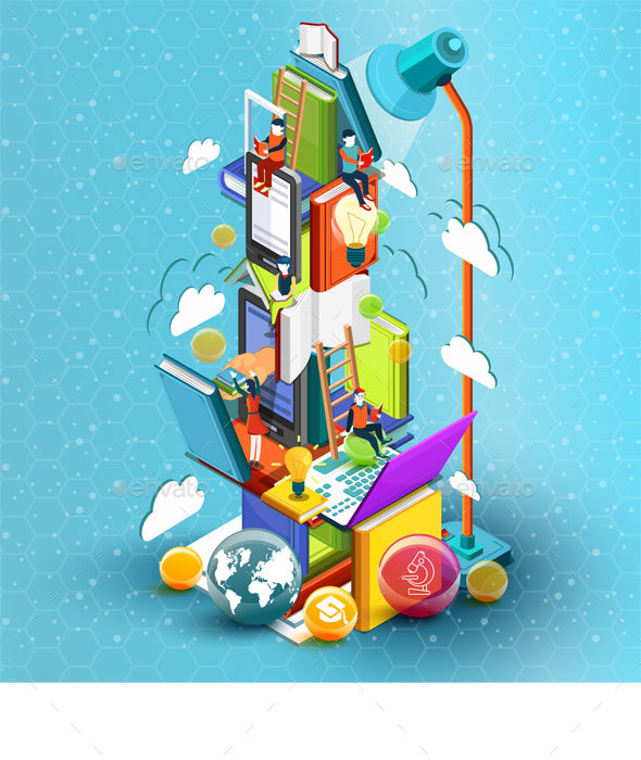 Tower of Books Education Concept - Concepts Business