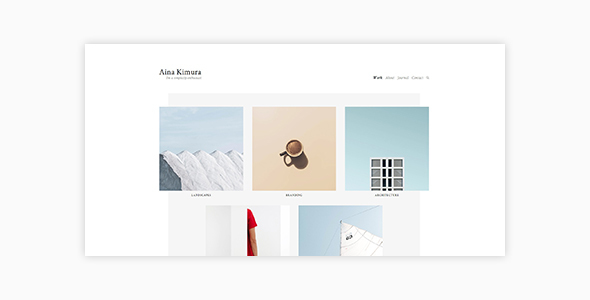 Image of Aina - Minimal Photography and Portfolio WordPress Theme