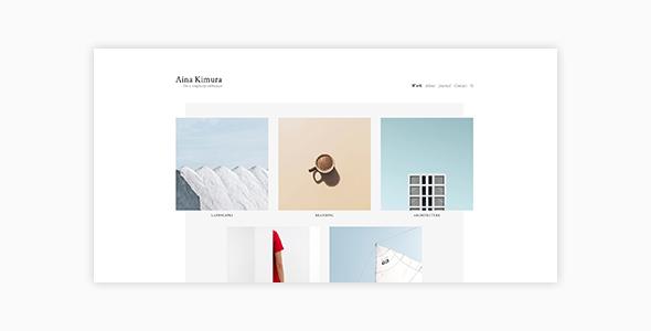 Aina - Minimal Photography and Portfolio WordPress Theme