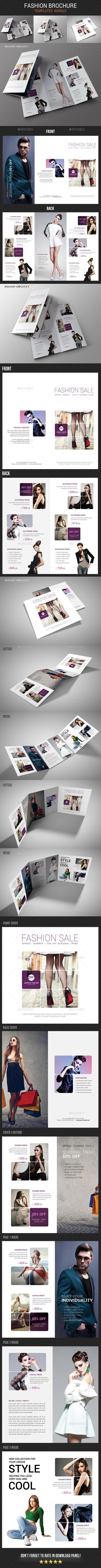 Fashion Brochure Bundle 3 - Brochures Print Templates