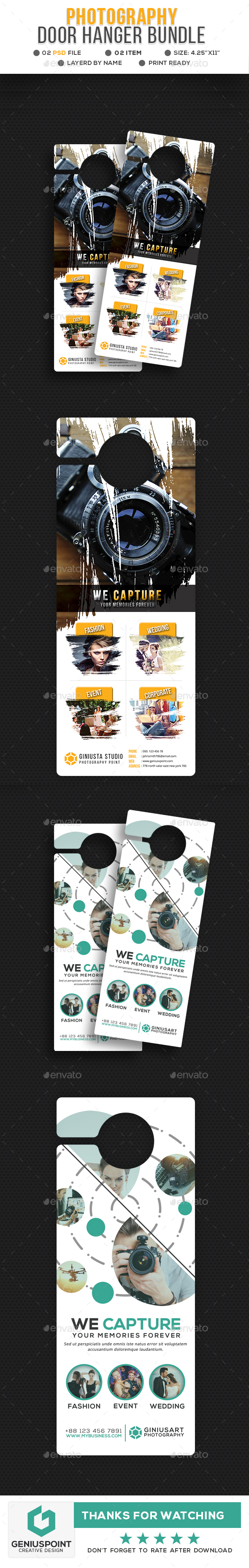 Photography Door Hanger Bundle - Miscellaneous Print Templates